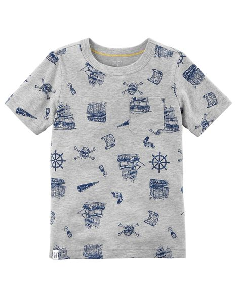 Display product reviews for Pirate Print Pocket Tee
