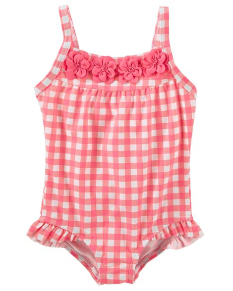 Display product reviews for OshKosh Gingham Swimsuit