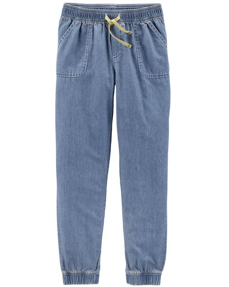 Display product reviews for Pull-On Denim Pants