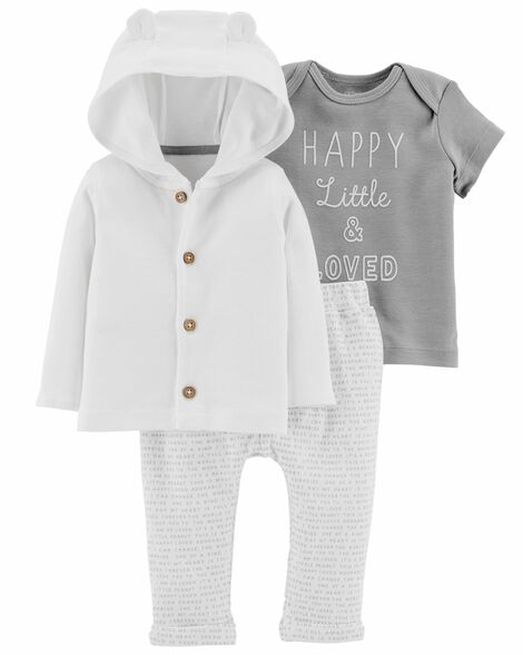Display product reviews for 3-Piece Little Cardigan Set
