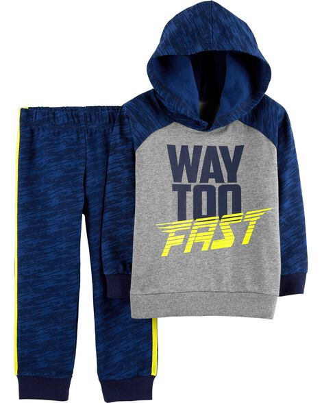 Display product reviews for 2-Piece Active Hoodie & Jogger Set