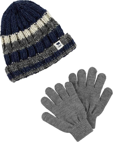 Display product reviews for Striped Hat & Mitten Set