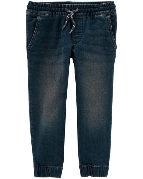 Display product reviews for Pull-On Knit Denim High Stretch Joggers