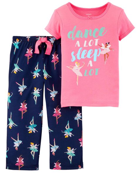 Display product reviews for 2-Piece Ballerina Cotton & Poly PJs