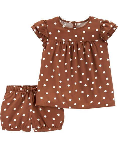 4209e0689533 Display product reviews for 2-Piece Polka Dot Top & Short Set