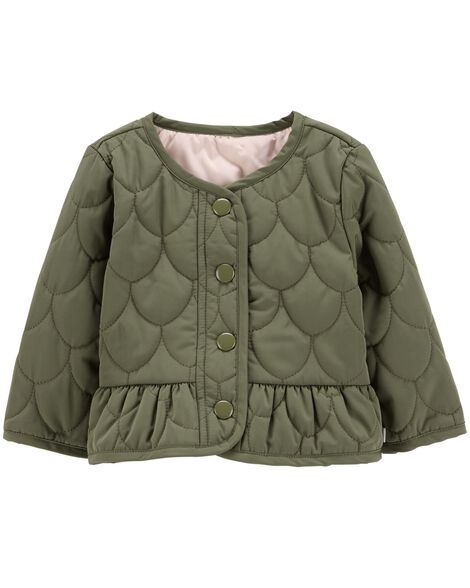 Display product reviews for Quilted Peplum Jacket