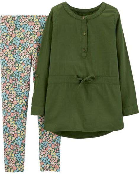 Display product reviews for 2-Piece Sateen Top & Floral Legging Set