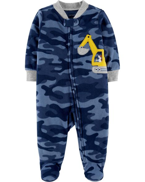 Display product reviews for Construction Zip-Up Fleece Sleep & Play