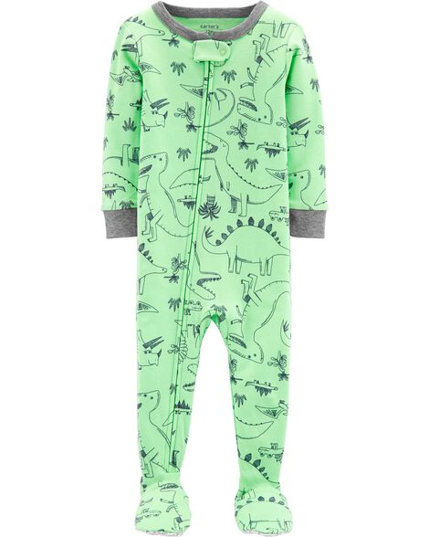 2f8e07db8d Display product reviews for 1-Piece Dinosaur Snug Fit Cotton Footie PJs