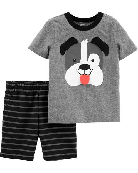 955859bb24 Display product reviews for 2-Piece Dog Jersey Tee   Striped Short Set