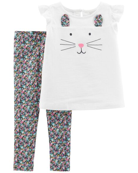 Display product reviews for 2-Piece Bunny Top & Floral Legging Set