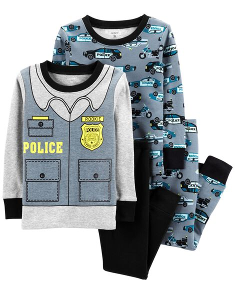 Display product reviews for 4-Piece Police Snug Fit Cotton PJs