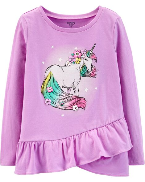 Display product reviews for Glitter Unicorn Ruffle Tee