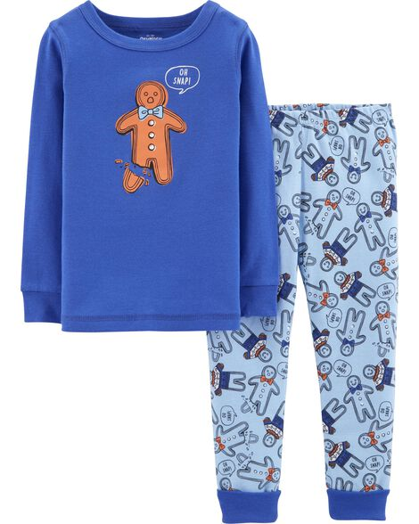 Display product reviews for Snug Fit Gingerbread Man Cotton PJs