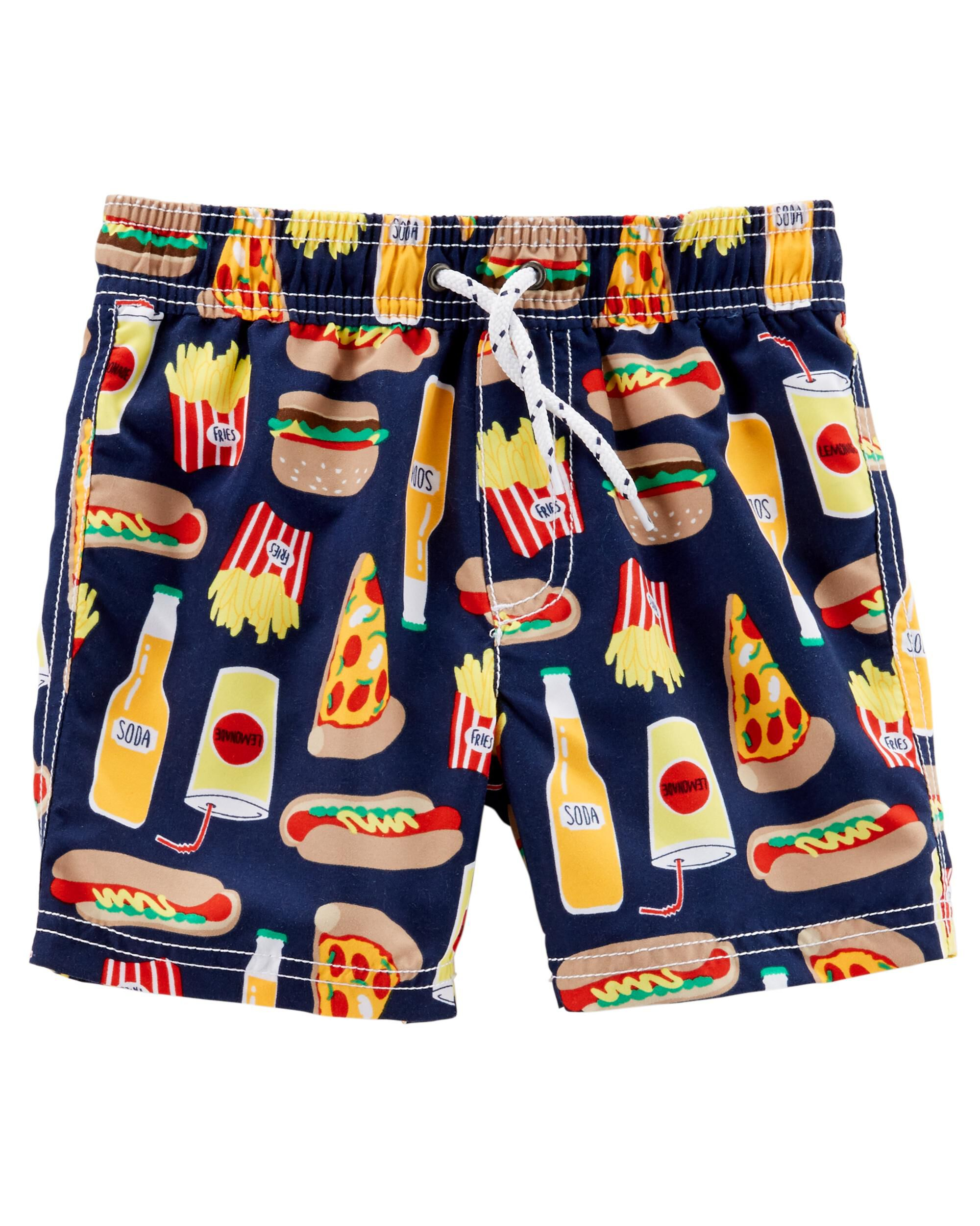 301dda7603 Carter's Food Print Swim Trunks | Carters.com