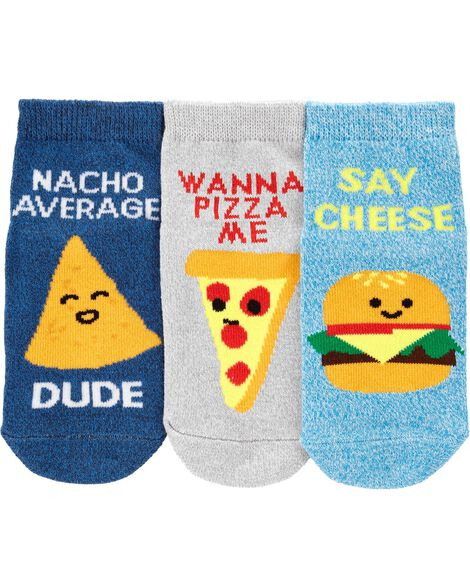Display product reviews for 3-Pack Food Ankle Socks