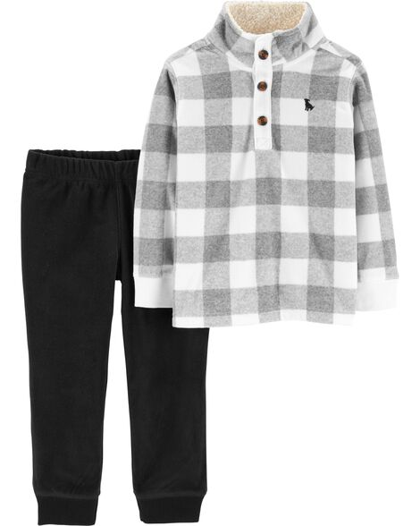 Display product reviews for 2-Piece Checkered Fleece Pullover & Pant Set