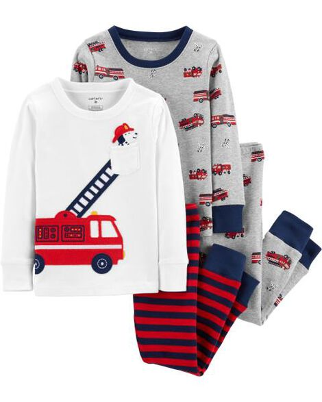 Display product reviews for 4-Piece Firetruck Snug Fit Cotton PJs