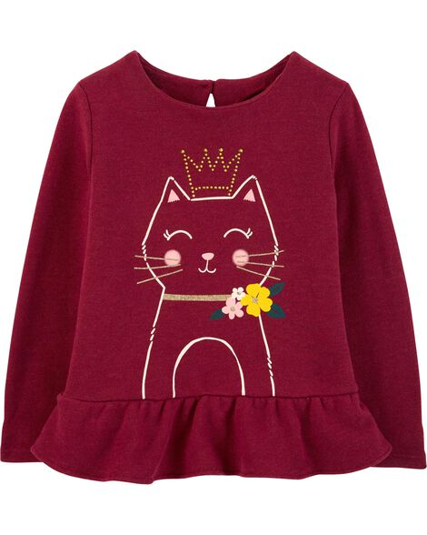Display product reviews for Sequin Princess Cat Sweater Top