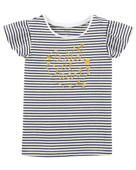 Display product reviews for Striped Flutter-Sleeve Tee