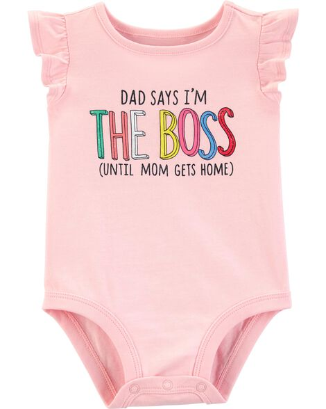 Display product reviews for Dad Says I'm The Boss Collectible Bodysuit