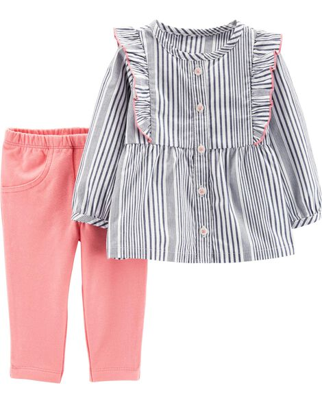 Display product reviews for 2-Piece Striped Top & Pant Set
