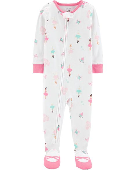 Display product reviews for 1-Piece Ballerina Footed Snug Fit Cotton PJs
