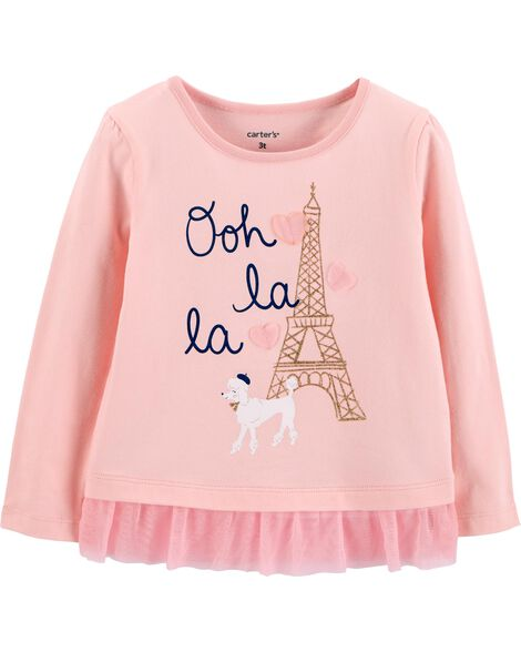 Display product reviews for Eiffel Tower Tulle Ruffle Tee