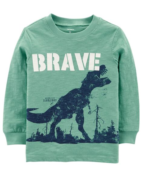 Display product reviews for Brave Dinosaur Slub Textured Tee