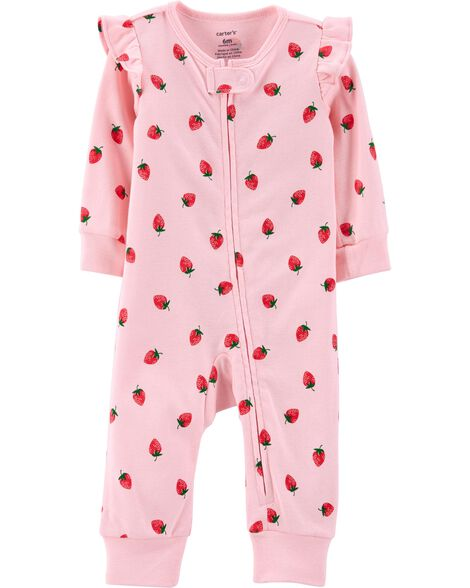 Display product reviews for Strawberry Zip-Up Footless Sleep & Play