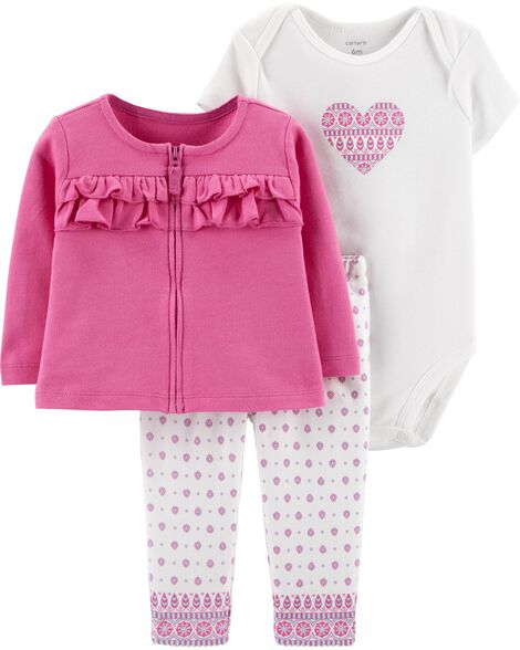 Display product reviews for 3-Piece Heart Cardigan Set