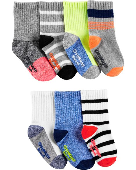Display product reviews for 7-Pack Striped Crew Socks