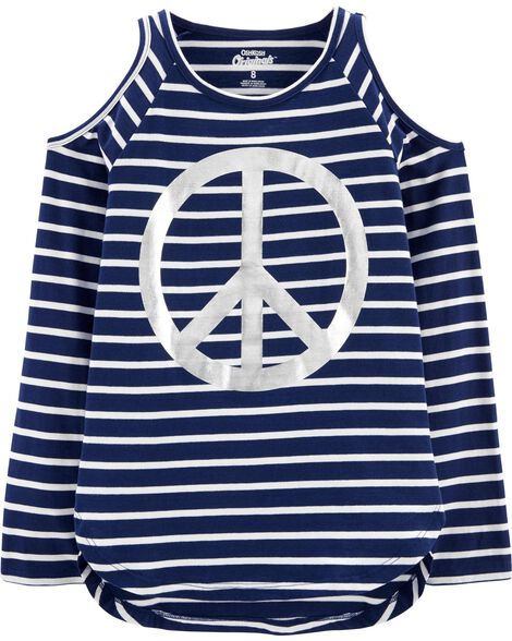 Display product reviews for Peace Cold Shoulder Tunic