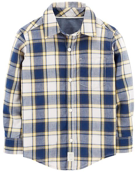 Display product reviews for Plaid Soft Wash Button-Front Shirt