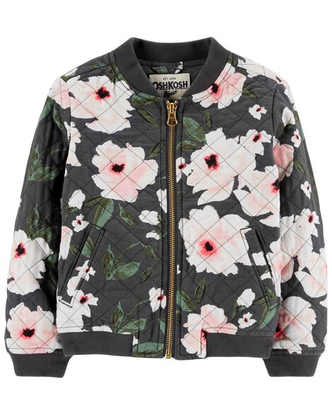 Display product reviews for Floral Bomber Jacket