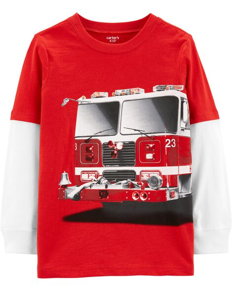 Display product reviews for Firetruck Layered-Look Jersey Tee