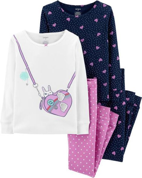 Display product reviews for 4-Piece Purse Snug Fit Cotton PJs
