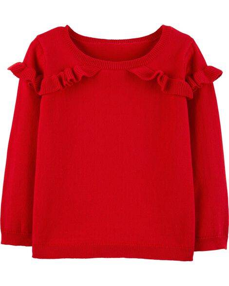 Display product reviews for Ruffle Pullover Sweater