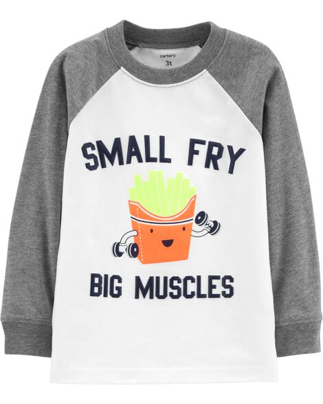 Display Product Reviews For Small Fry Big Muscles Raglan Tee