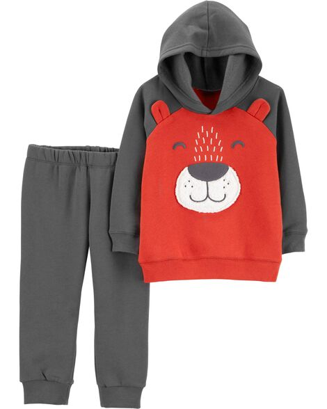 Display product reviews for 2-Piece Bear Hoodie & Jogger Set