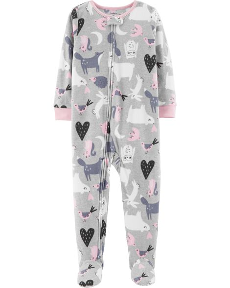 Display product reviews for 1-Piece Animals Fleece PJs