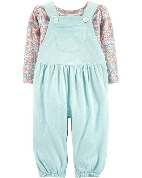 Display product reviews for 2-Piece Tee & Overalls Set