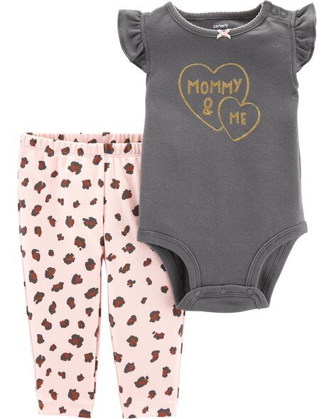 Display product reviews for 2-Piece Mommy & Me Bodysuit Pant Set