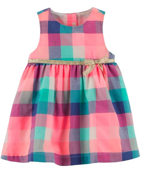 Display product reviews for Sleeveless Plaid Dress