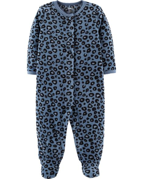 Display product reviews for Leopard Snap-Up Fleece Sleep & Play