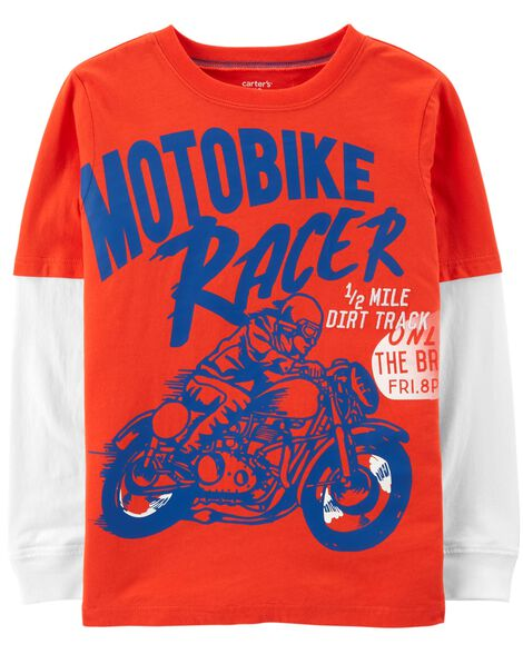 Display product reviews for Motobike Racer Layered-Look Tee