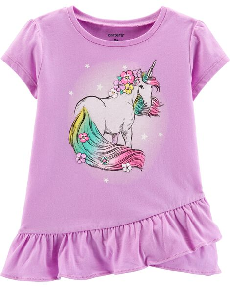 00d7653696a Display product reviews for Glitter Unicorn Ruffle Tee