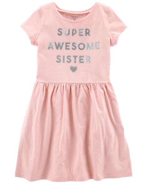 Display product reviews for Glitter Super Awesome Sister Dress