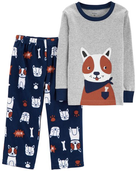 Display product reviews for 2-Piece Dog Snug Fit Cotton & Fleece PJs