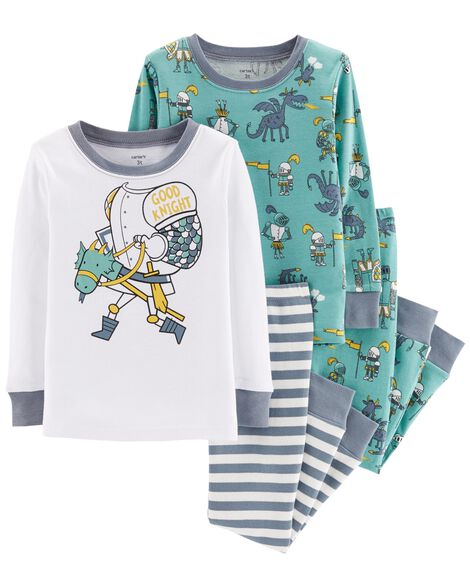 Display product reviews for 4-Piece Good Knight Snug Fit Cotton PJs